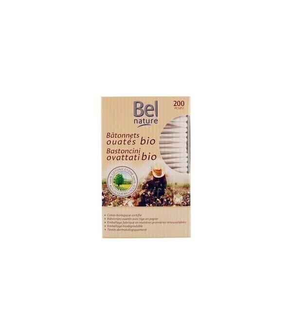 Bel Nature - Coton-Tige bio - Boîte de 200 avec tige papier