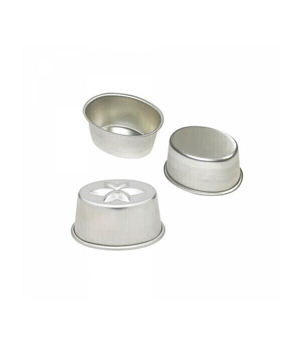 Louis Tellier Gobel - Aspic ovale fond étoilé en fer blanc