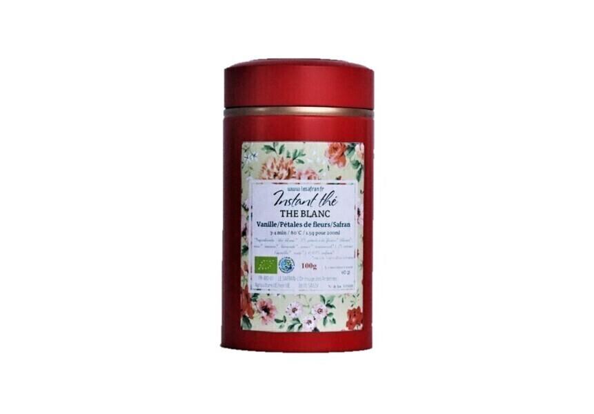 LE SAFRAN - Thé blanc bio Vanille-Fleurs-Safran,100g
