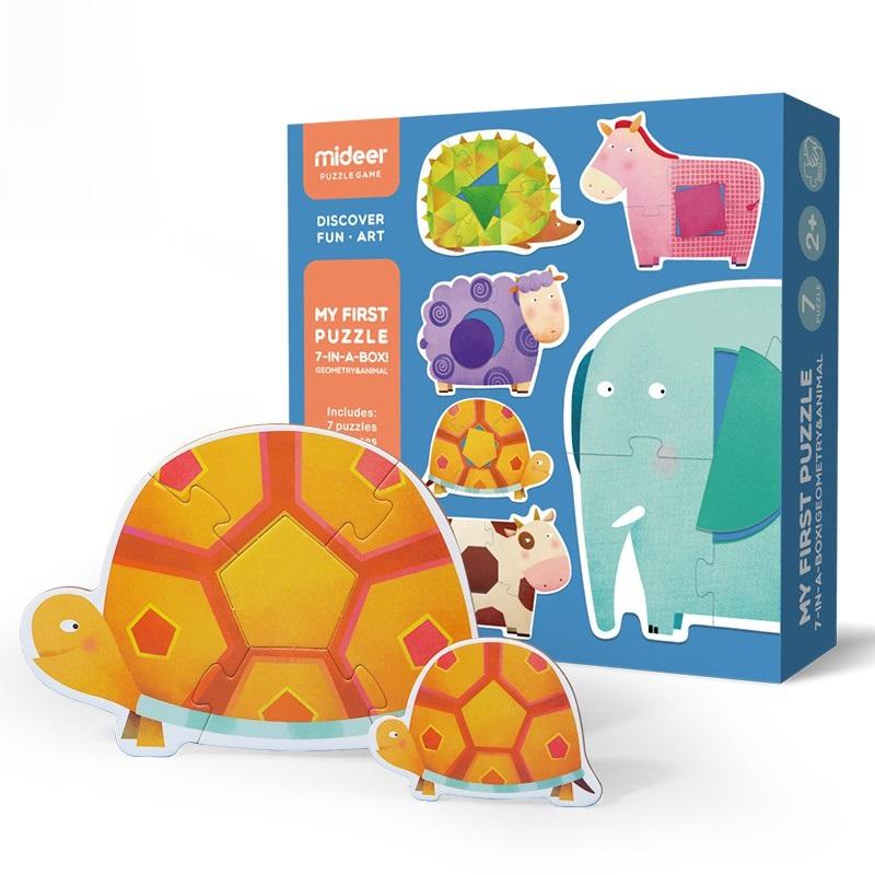 Mideer - Mon 1er puzzle animaux géométriques