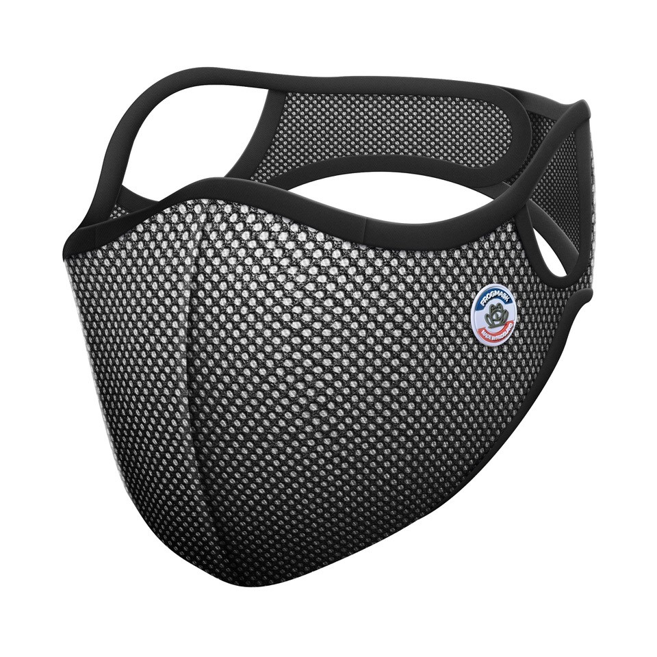 Frogmask - Masque anti-pollution FFP2 noir & blanc taille L (homme