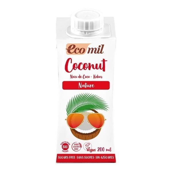 EcoMil - Lait Coco Nature 200ml Bio
