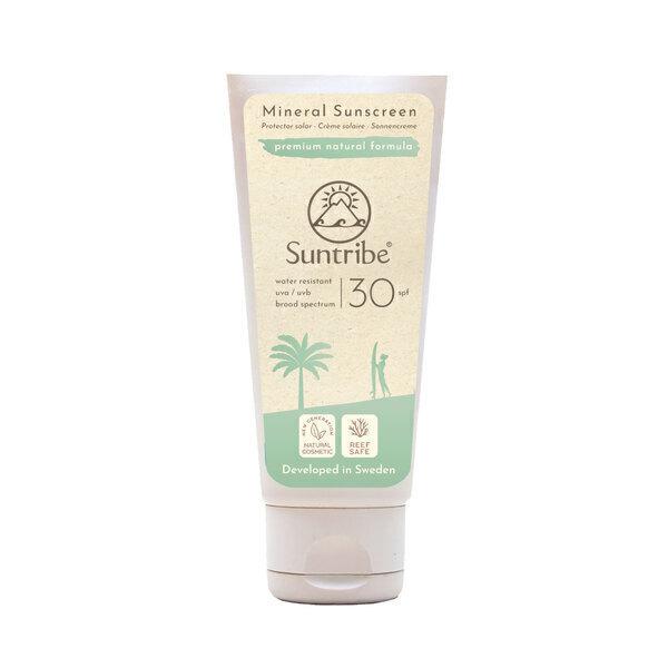 Suntribe Sunscreen - Crème Solaire Minérale Naturelle Corps & Visage SPF 30 Suntribe