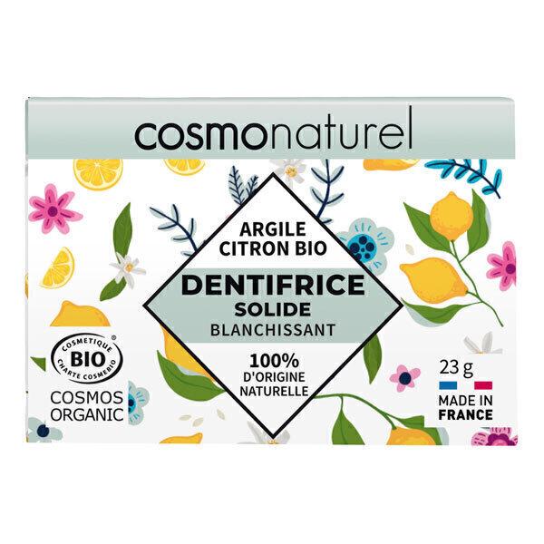 Cosmo Naturel - Dentifrice solide blanchissant Argile Citron 23g