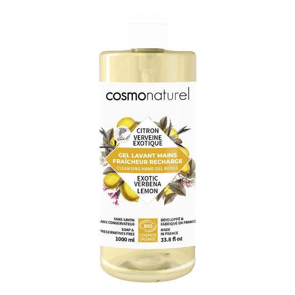 Cosmo Naturel - Gel lavant mains Fraîcheur Citron Verveine 1L