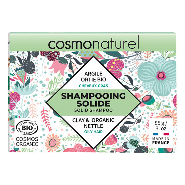 Cosmo Naturel - Shampoing solide cheveux gras Argile Ortie 85g