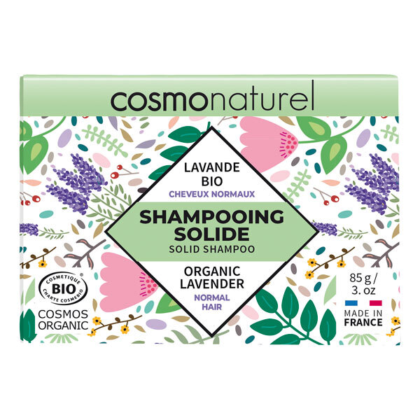 Cosmo Naturel - Shampoing solide cheveux normaux Lavande 85g