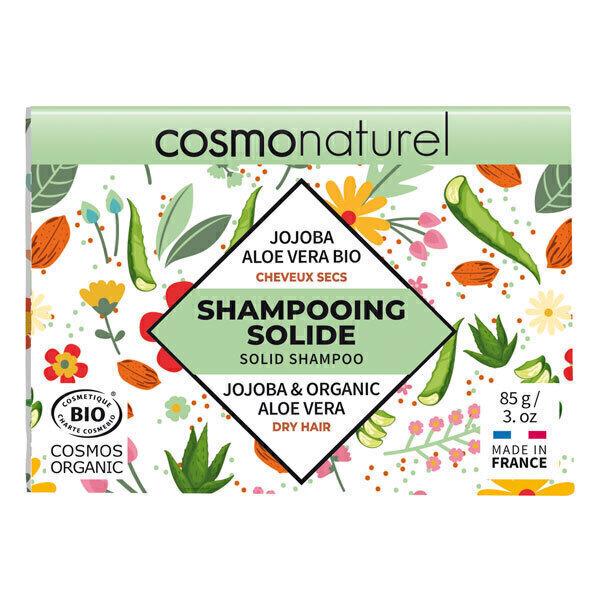 Cosmo Naturel - Shampoing solide cheveux secs Jojoba Aloe Vera 85g