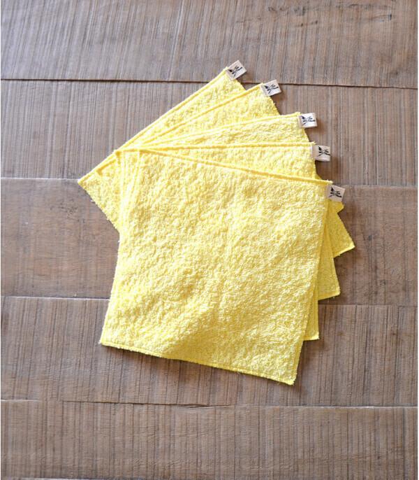 Jolie Planète - 5 essuie-tout lavables, Couleur Jaune