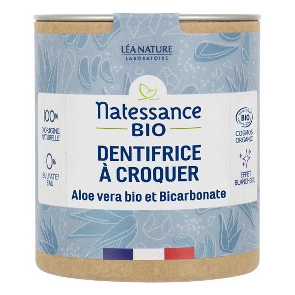 Natessance - Dentifrice à croquer aloe vera et bicarbonate 80 pastilles
