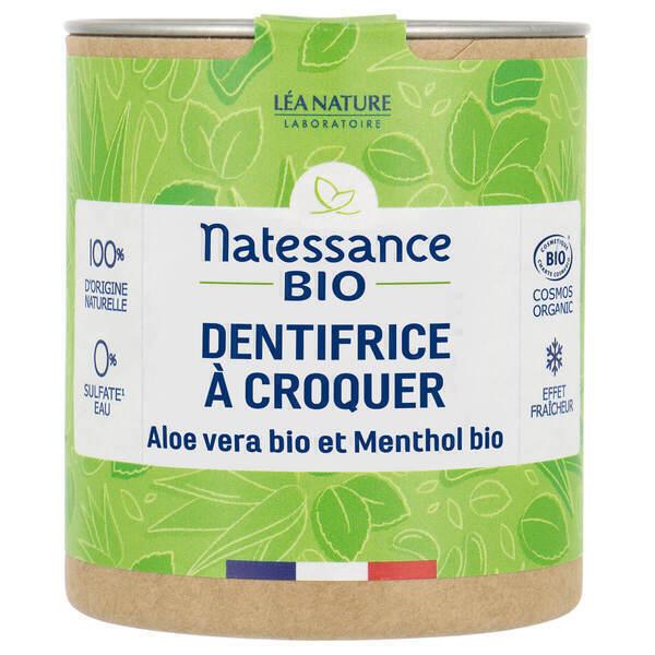 Natessance - Dentifrice à croquer aloe vera et menthol 80 pastilles