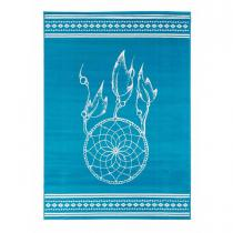 Un amour de tapis - Tapis design et moderne - AF ATTRAPE REVE - Bleu - 60x110