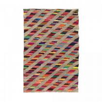 Un amour de tapis - Tapis kilim - RAINBOW JUTE ET FIL RECYCLE - Multicolore - 60x110