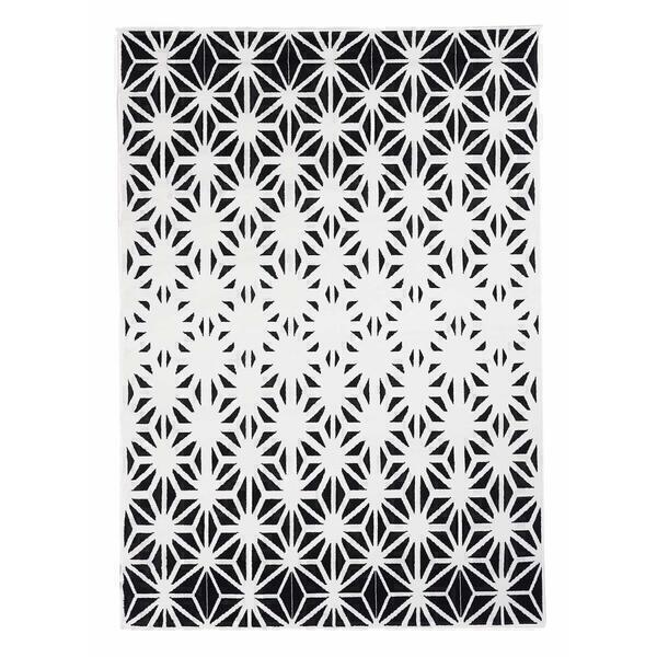 Un amour de tapis - Tapis design et moderne - AF SCANDINAVE RECTO - Noir - 120x170