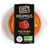 Carte Nature - Houmous poivrons et épices chili 160g