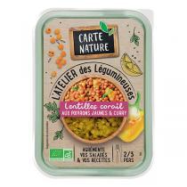 Carte Nature - Lentilles corail aux poivrons jaunes et curry 280g