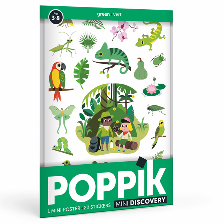 POPPIK - Mini poster 22 stickers La Jungle