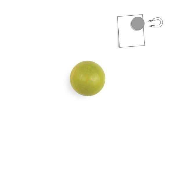 tout simplement, - boule magnétique en bois - vert anis