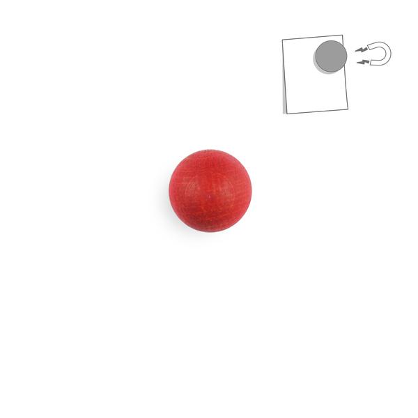 tout simplement, - boule magnétique en bois - rouge