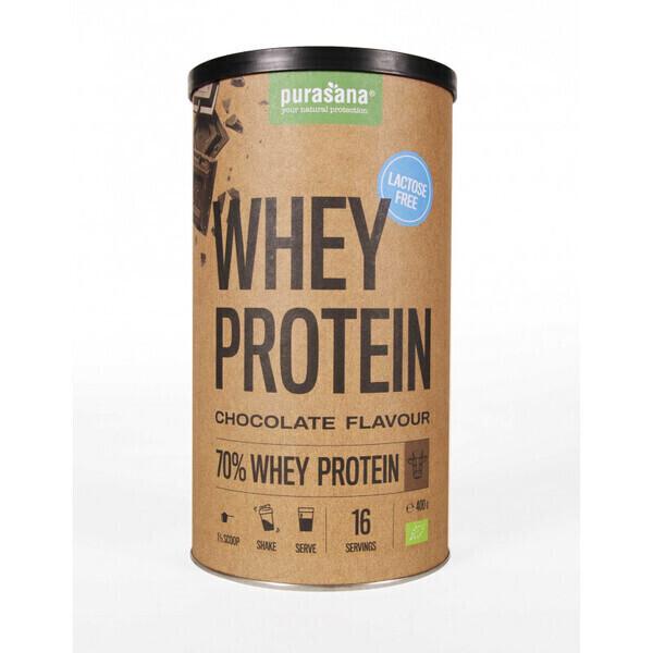 Purasana - Protéine de Petit Lait Sans Lactose - Chocolat 400 gr