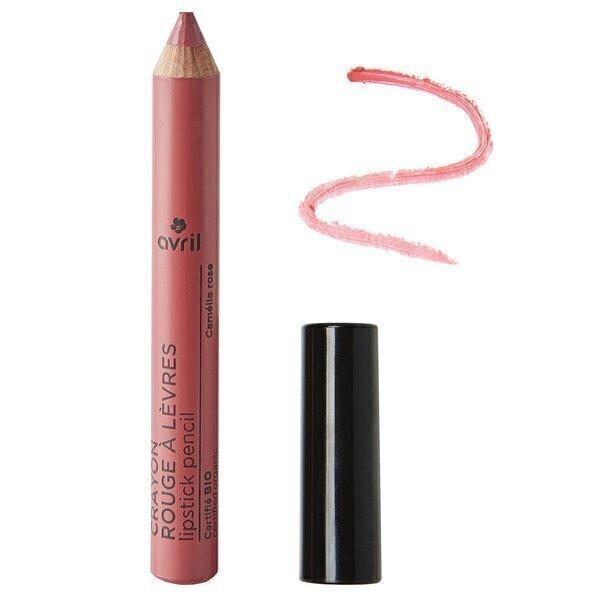Avril - AVRIL Crayon Rouge à Lèvres Camélia Rose Certifié Bio, 2g