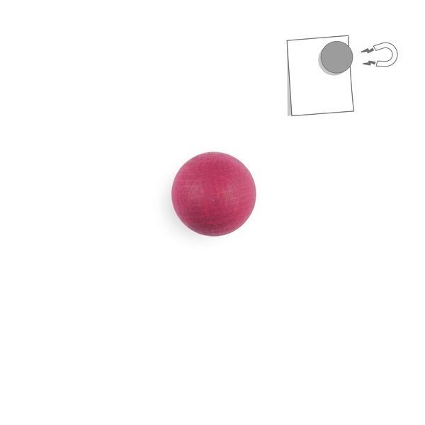 tout simplement, - boule magnétique en bois - rose