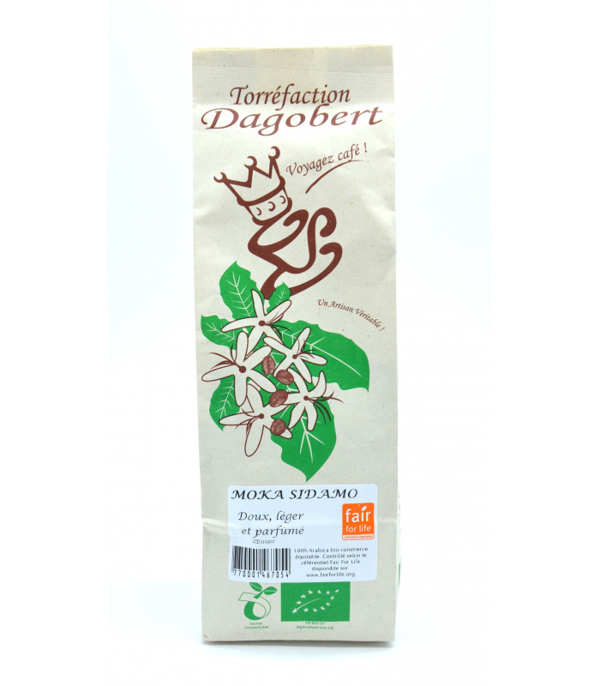 Les cafés Dagobert - Café moulu bio Moka Sidamo - 250g