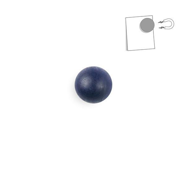 tout simplement, - boule magnétique en bois - bleu nuit