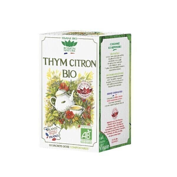 Romon Nature - Tisane Thym Citron France bio - 18 sachets