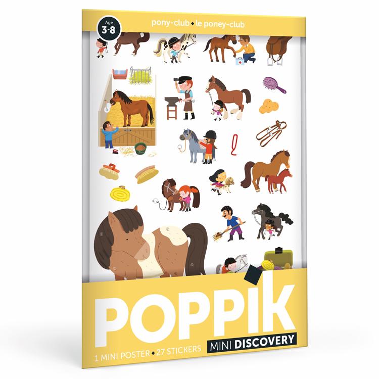 POPPIK - Mini poster 26 stickers La Ville