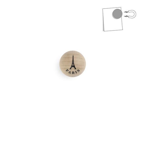 tout simplement, - boule magnétique en bois - Tour Eiffel naturel