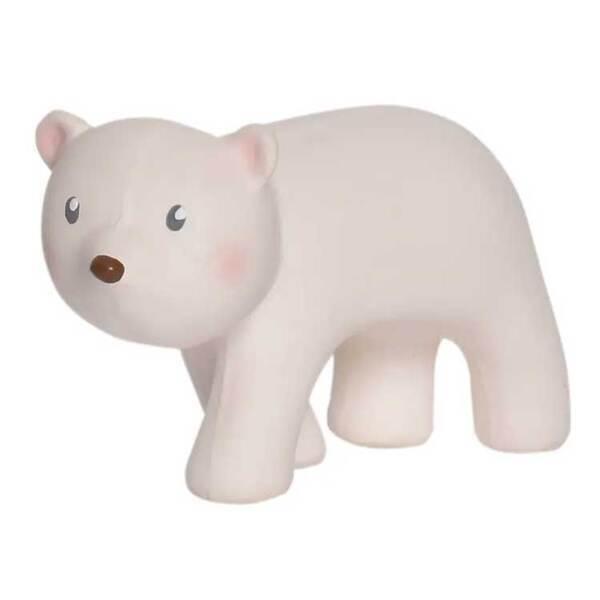 Tikiri - Ours blanc en caoutchouc naturel