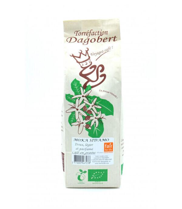 Torréfaction Dagobert - Café en grains bio Moka Sidamo - 250g