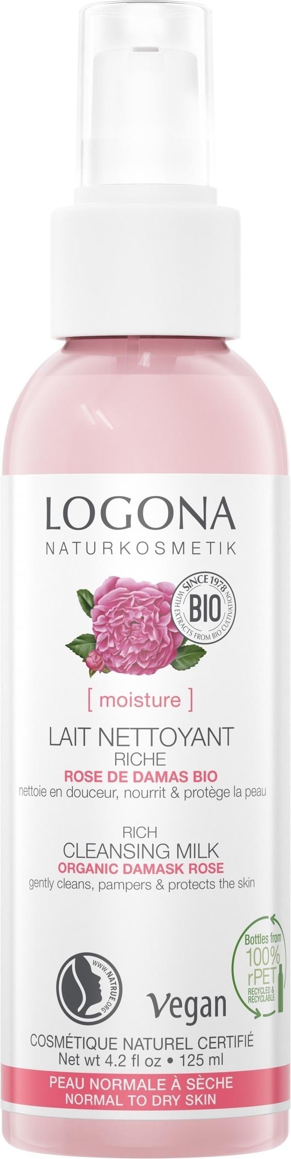 Logona - Lait Nettoyant Rose de damas