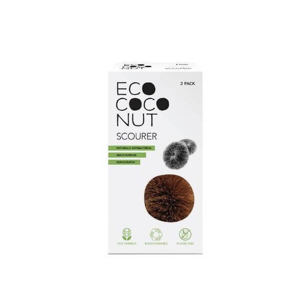 EcoCoconut - Grattoir en noix de coco (lot de 2)