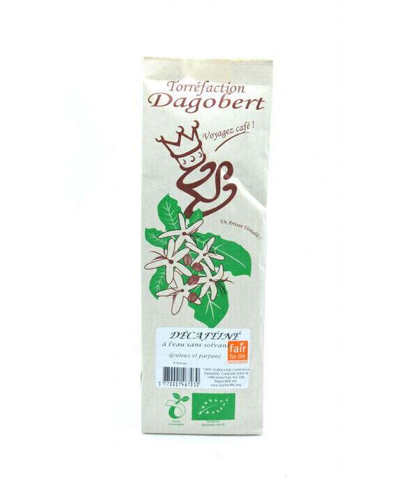 Les cafés Dagobert - Café Décaféiné bio moulu - 250g