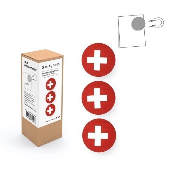 tout simplement, - boîte de 3 boules magnétiques en bois - Suisse