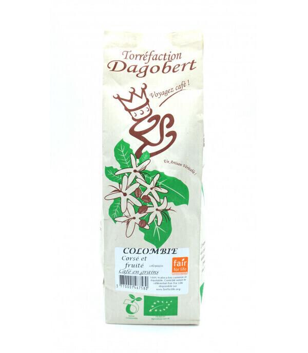 Torréfaction Dagobert - Café Colombie bio et équitable - En grains - 250g