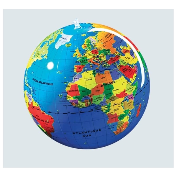 Caly - Globe gonflable Le Monde 30cm