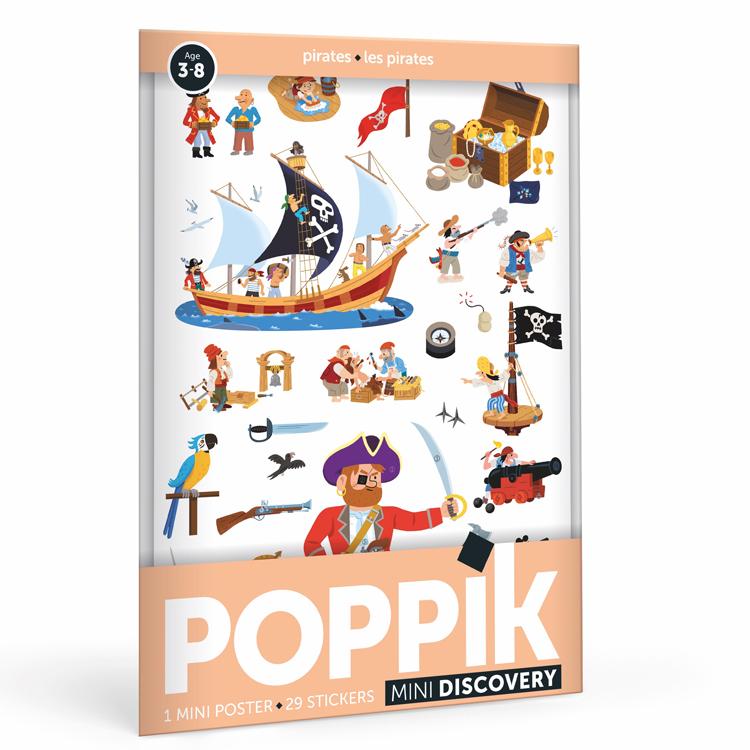 POPPIK - Mini poster 29 stickers Les pirates