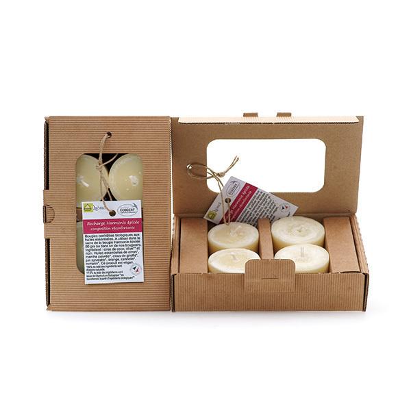 Quésack - Boîte de 4 bougies parfumées Composition Réconfortante
