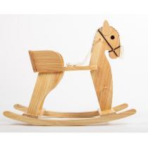 Mora - Cheval à bascule en bois artisanal.
