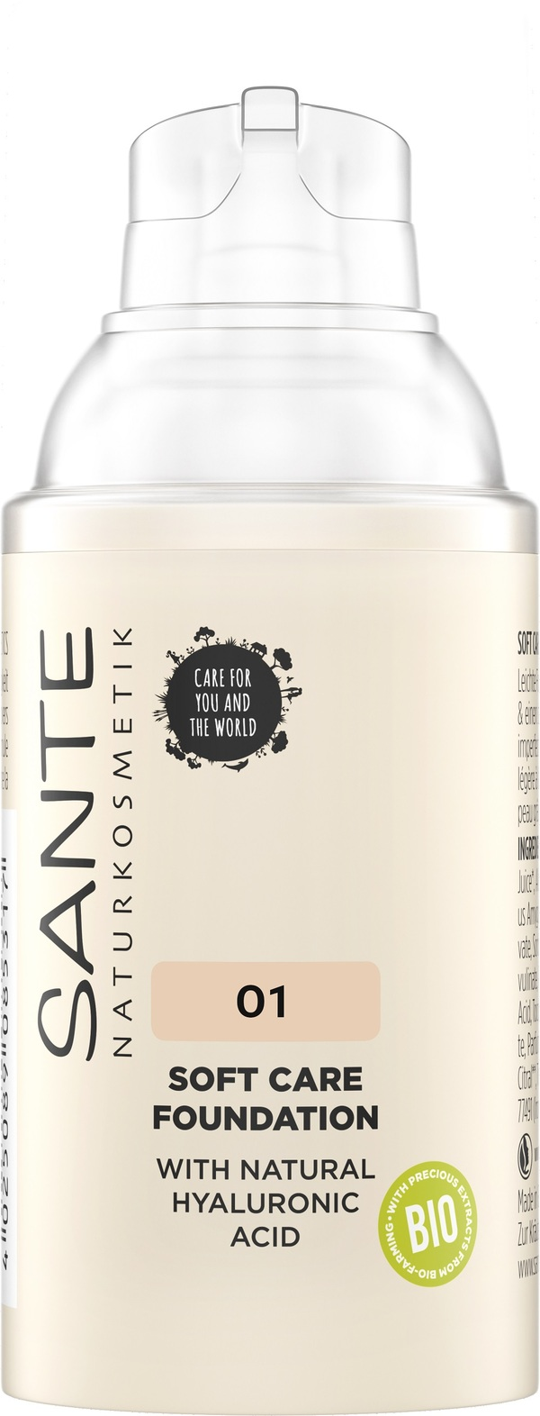 Sante Naturkosmetik - Fond de teint Crème - Warm Linen 01