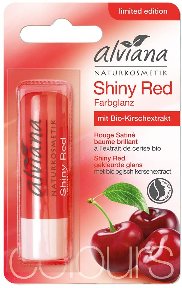 alviana - ALVIANA Soin des Lèvres Rouge Satiné Brilliant - Shiny Red, 4,5g