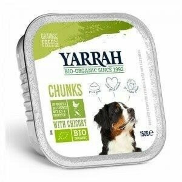 Yarrah - Bouchées de poulet et légumes à la chicorée, pour chiens