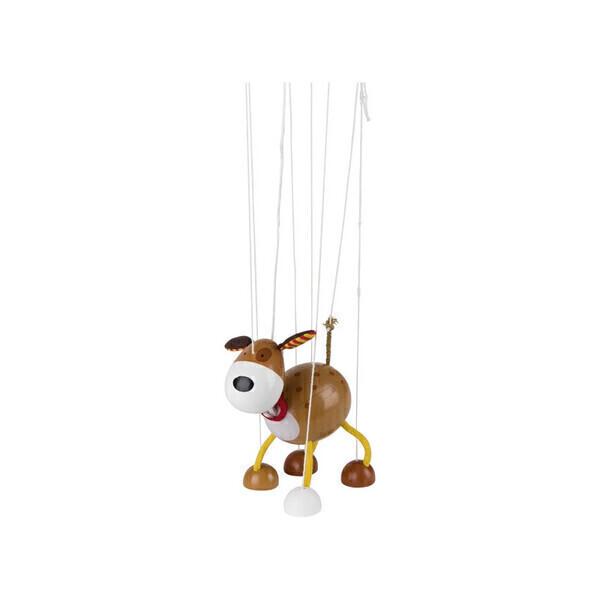 Goki - Marionnette à fil en bois : le chien