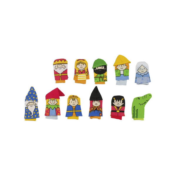 Goki - 11 marionnettes à doigt - Kasper