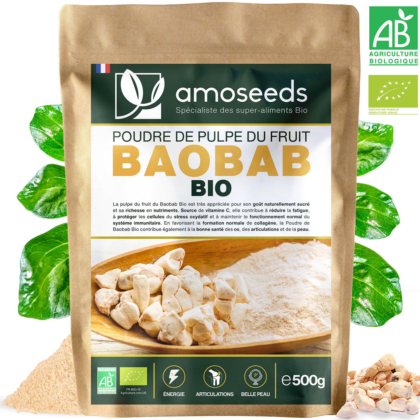 amoseeds - Poudre de Baobab Bio 500g