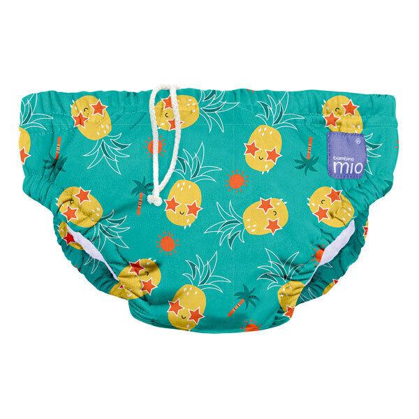 Bambino Mio - Couche de bain lavable Ananas festif - Taille M (6-12 mois)