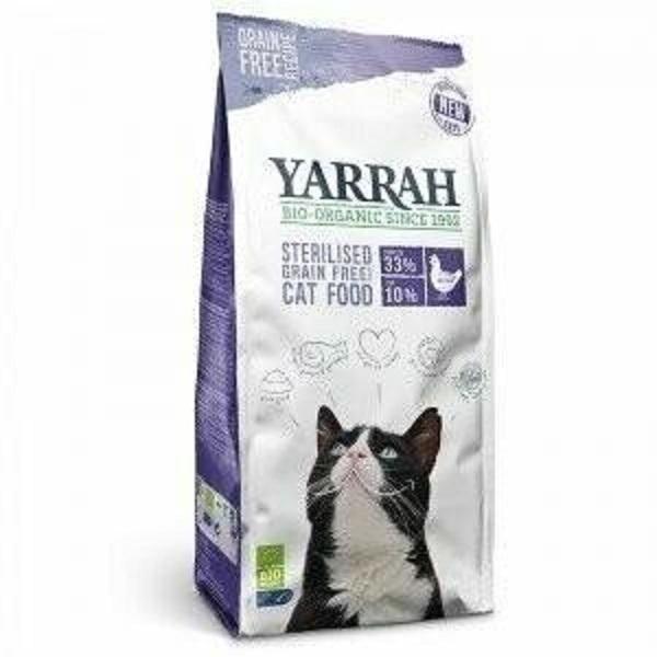 Yarrah - Croquettes biologiques sans céréales pour chat stérilisé